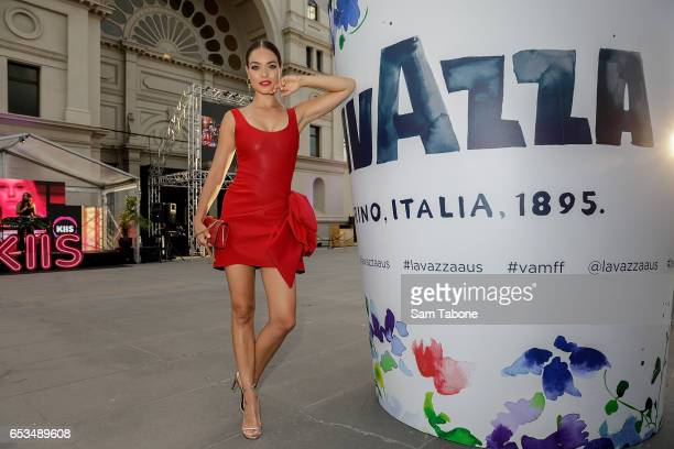 Virginia Slaghekke arrives ahead of the VAMFF 2017 Premium International Designer Showcase 1 Indonesia runway show on March 15 2017 in Melbourne...