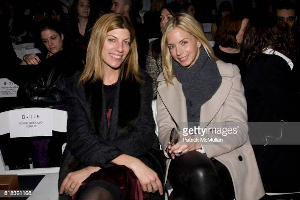 Virginia Smith and Meredith Melling Bourke attend NICOLE MILLER Fall 2010 Collection at Bryant Park Tents on February 12 2010 in New York City