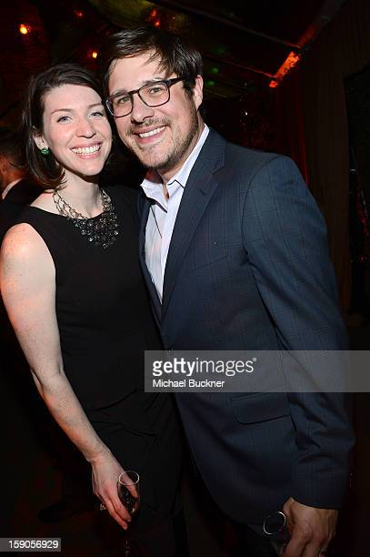 Virginia Sommer and Rich Sommer attend the Audi Golden Globes Kick Off 2013 at Cecconi's Restaurant on January 6 2013 in Los Angeles California