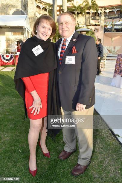 Virginia Spencer and Perry Spencer attend President Trump's one year anniversary with over 800 guests at the winter White House at MaraLago on...
