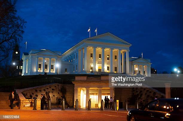 Virginia State Capitol building at night on Wednesday January 9 2013