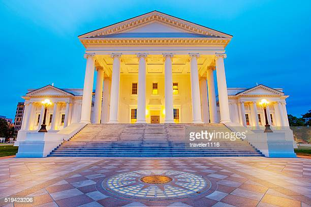 Virginia State Capitol In Richmond At Night