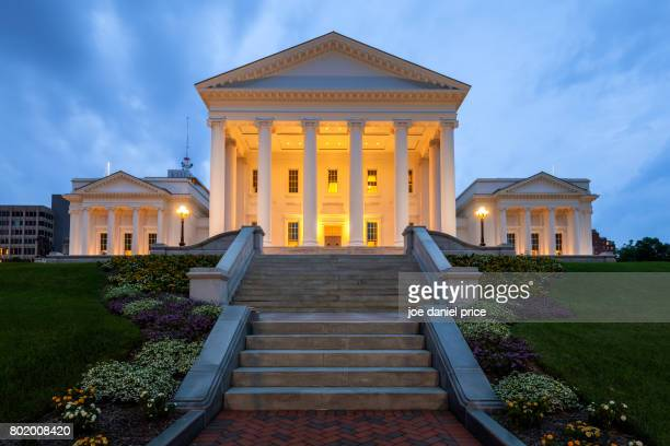 virginia state capitol, richmond, virginia, america - richmond virginia stock pictures, royalty-free photos & images