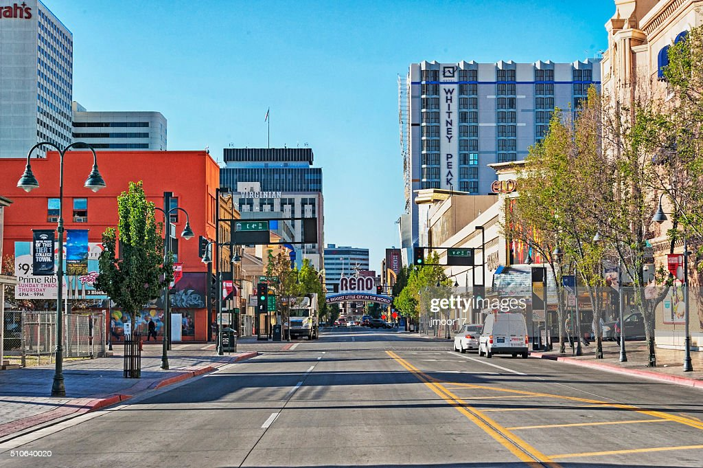 Virginia Street Views Reno Nevada : Stock Photo