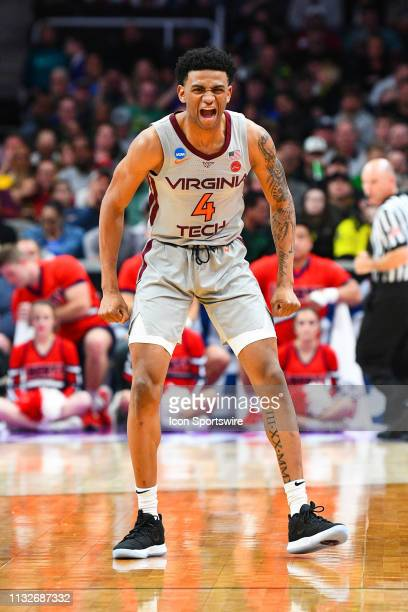 Virginia Tech guard Nickeil AlexanderWalker yells out during the game between the Virginia Tech Hokies and the Liberty Flames in their NCAA Division...