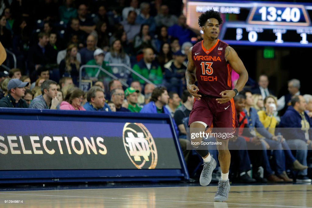 COLLEGE BASKETBALL: JAN 27 Virginia Tech at Notre Dame : News Photo