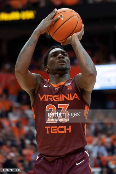 Virginia Tech Hokies Guard Ryrece Radford shoots a free throw during the second half of the College Basketball game between the Virginia Tech Hokies...