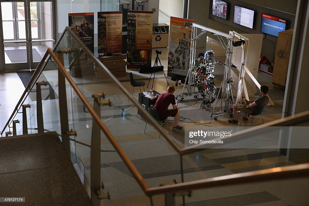 Researchers And Virginia Tech Students Prepare For DARPA Robotics Challenge : News Photo