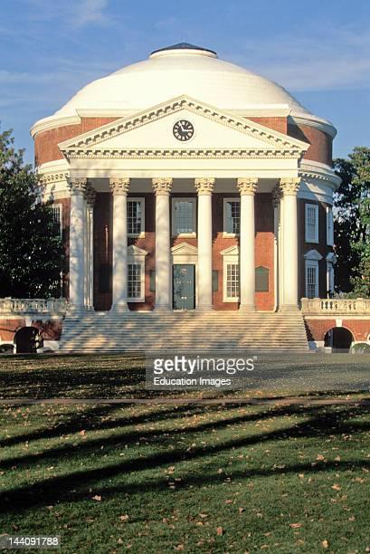 Virginia The Rotunda Building At University Of Virginia Thomas Jefferson Design