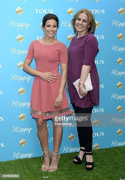 Virginia Troconis and Rosa Oriol attend the launch of the Tous 'Happy' sunglasses at Fortuny on April 28, 2016 in Madrid, Spain.