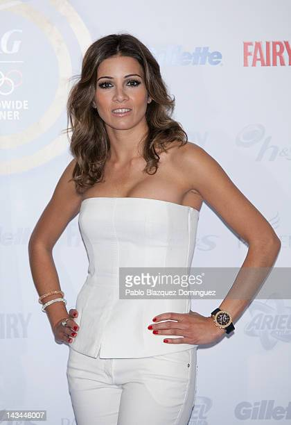 Virginia Troconis presents 'Gracias Mama' campaign at Occidental Miguel Angel Hotel on April 26 2012 in Madrid Spain