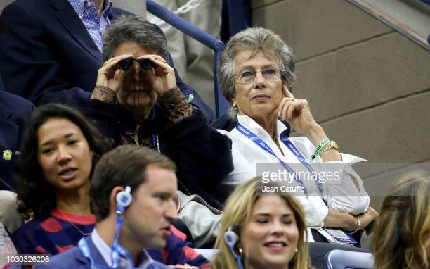 Virginia Wade attends the men's final on day 14 of the 2018 tennis US Open on Arthur Ashe stadium at the USTA Billie Jean King National Tennis Center...
