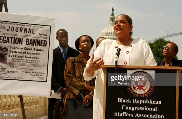 Virginia WaldenFord of DC Parents for School Choice speaks at a news conference of the Black Republican Congressional Staff Association discussing...