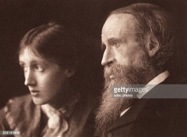 Virginia Woolf with her father Leslie Stephen Ca 1902