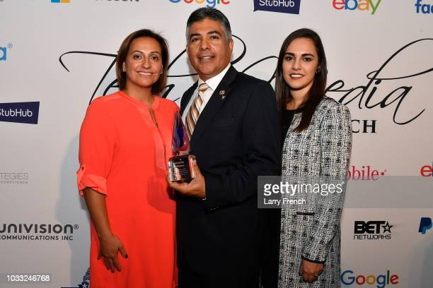 Virginia Zigras Rep Tony Cardenas and Anais Carmona appear at IMPACT Strategies and DP Creative Strategies Tech Media day party and brunch at...