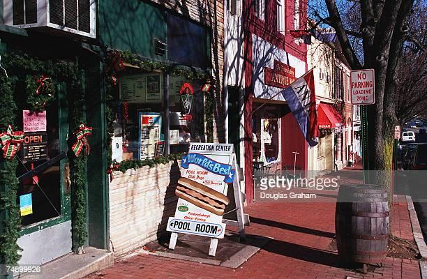 VIRGINIAMain street in old towne Fredericksburg