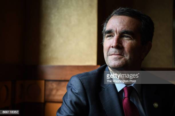 Virginia's Democratic candidate for governor Ralph Northam photographed during at campaign stop at Eddie Merlot's restaurant on Saturday October 14...