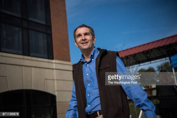 Virginia's Democratic gubernatorial candidate Ralph Northam leaves after a campaign stop at Burke Farmer's Market on Saturday November 4 in Burke VA