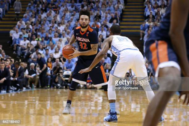Virginia's London Perrantes and North Carolina's Seventh Woods The University of North Carolina Tar Heels hosted the University of Virginia Cavaliers...