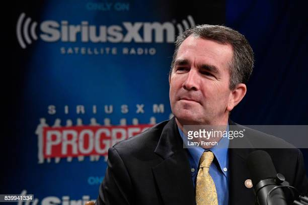 Virginia's Lt. Governor Ralph Northam talks to host Dean Obeidallah about his gubernatorial campaign during a SiriusXM Town Hall at SiriusXM Studio...