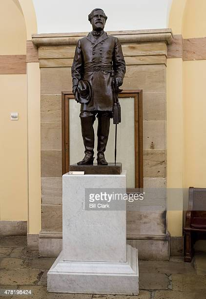Virginia's statue of Confederate general Robert E Lee stands in the Crypt in the US Capitol on Tuesday June 23 2015