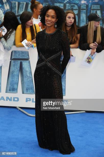 Virginie Besson attends the 'Valerian And The City Of A Thousand Planets' European Premiere at Cineworld Leicester Square on July 24 2017 in London...