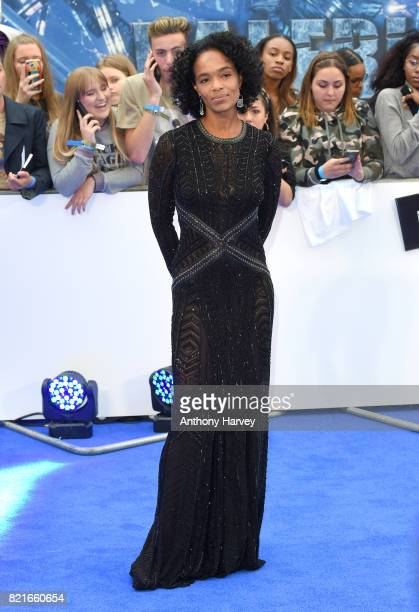 Virginie BessonSilla attends the 'Valerian' European premiere at Cineworld Leicester Square on July 24 2017 in London England