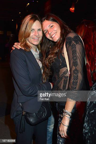 Virginie Couperie Eiffel and Vanille Clerc attend the Gucci Paris Masters 2012 opening gala at Parc Paris Nord Villepinte on November 29 2012 in...