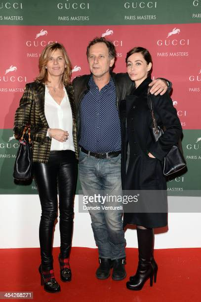 Virginie Couperie Eiffel Charles Berling and Emmanuelle Beart attend day 4 of the Gucci Paris Masters 2013 at Paris Nord Villepinte on December 8...