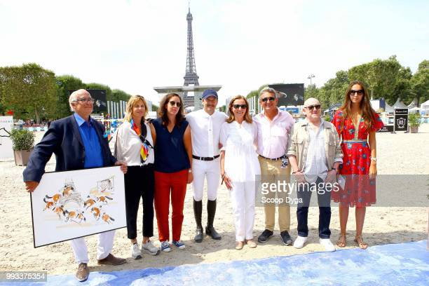 Virginie Couperie Eiffel Louise Rochefort Francoise Vidal Clemence Rochefort Guillaume Canet Jean Maurice Bonneau and Michel Blanc during in the...