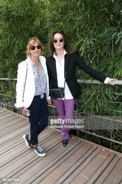 Virginie CouperieEiffel and Diane de Mac Mahon attend the 2017 French Tennis Open Day Seven at Roland Garros on June 3 2017 in Paris France