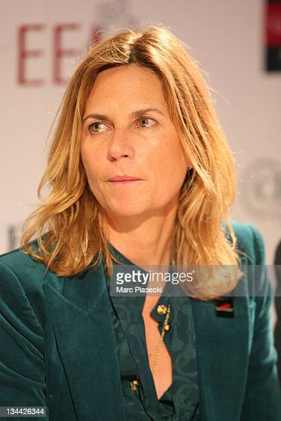 Virginie CouperieEiffel attends the International Gucci Masters Competition Press Conference on December 1 2011 in Villepinte France
