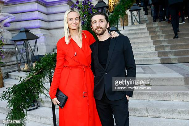 Virginie Courtin Clarin and David Koma attend the Soiree Haute Couture as part of Paris Fashion Week at Le Petit Palais on July 6 2016 in Paris France