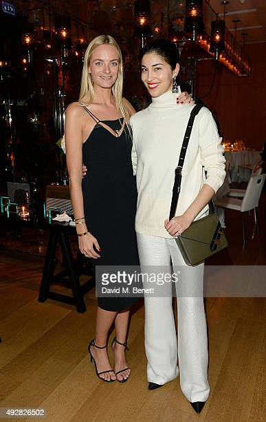 Virginie Courtin Clarins and Caroline Issa attend the Frieze Dinner hosted by Mugler for their handbag line launch at Rosewood London on October 15...