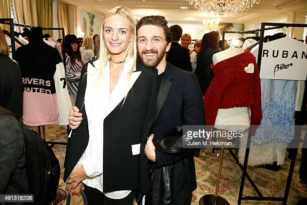 Virginie Courtin Clarins and David Koma attend Buro 24/7 Family Presentation of 9 Fashion Designers from Russia Ukraine and Kazakhstan at Hotel...