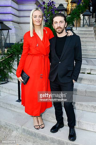 Virginie Courtin Clarins and David Koma attend the Soiree Haute Couture as part of Paris Fashion Week at Le Petit Palais on July 6 2016 in Paris...