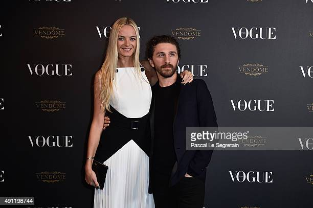 Virginie Courtin Clarins and David Koma attend the Vogue 95th Anniversary Party on October 3 2015 in Paris France