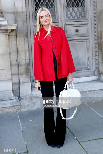 Virginie Courtin Clarins arriving at Louis Vuitton show as part of the Paris Fashion Week Womenswear Spring/Summer 2014 on October 2 2013 in Paris...
