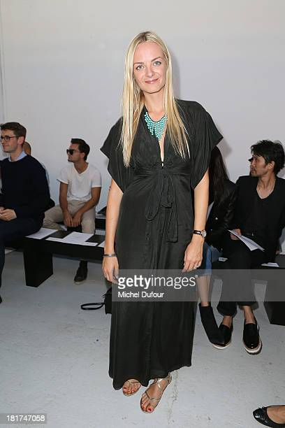 Virginie Courtin Clarins attends Anthony Vaccarello show as part of the Paris Fashion Week Womenswear Spring/Summer 2014 on September 24 2013 in...