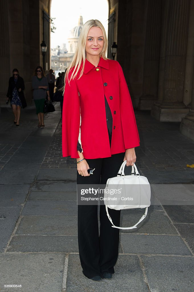 Virginie Courtin Clarins attends Louis Vuitton show at 'Cour Carre du Louvre', as part of the Paris Fashion Week Womenswear Spring/Summer 2014, in Paris.