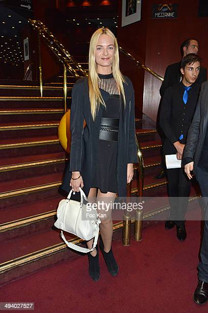 Virginie Courtin Clarins attends 'Mugler Follies' 100th Edition at Le Comedia on May 26 2014 in Paris France