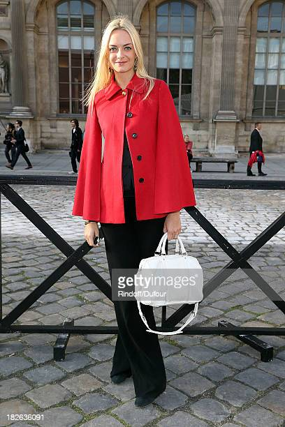 Virginie Courtin Clarins attends the Louis Vuitton show as part of the Paris Fashion Week Womenswear Spring/Summer 2014 on October 2 2013 in Paris...