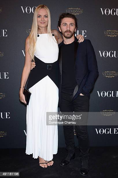 Virginie Courtin Clarins attends the Vogue 95th Anniversary Party Photocall as part of the Paris Fashion Week Womenswear Spring/Summer 2016 on...