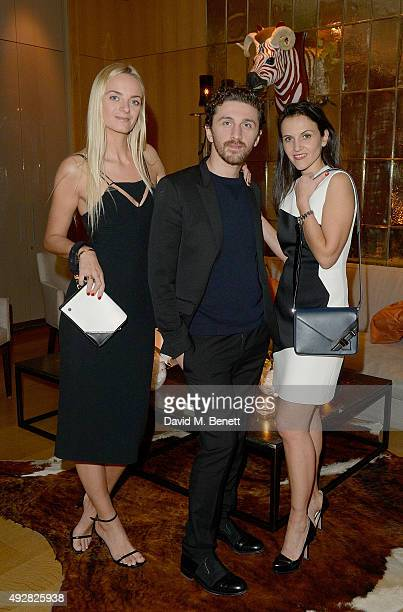 Virginie Courtin Clarins David Korma and Sandrine Groslier attend the Frieze Dinner hosted by Mugler for their handbag line launch at Rosewood London...