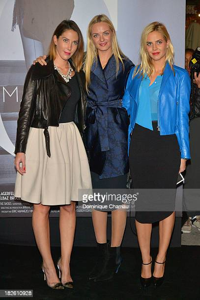 Virginie CourtinClarins and Claire CourtinClarins attend the 'Mademoiselle C' Paris Premiere at Publicis Champs Elysees on October 1 2013 in Paris...