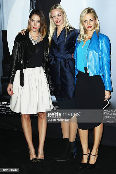 Virginie CourtinClarins and Claire CourtinClarins attend the 'Mademoiselle C' Paris Premiere at Publicis Cinema on October 1 2013 in Paris France