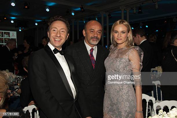 Virginie Courtin-Clarins and Claire Courtin-Clarins attend the Sidaction Gala Dinner 2012 at Pavillon d'Armenonville on January 26, 2012 in Paris,...