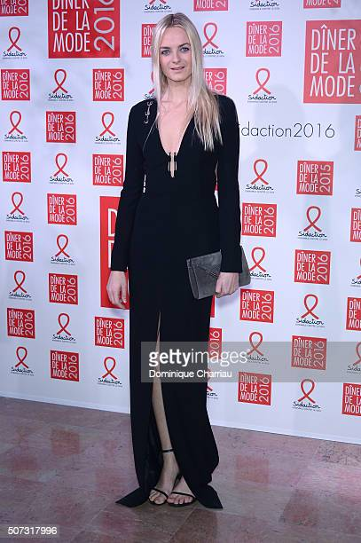 Virginie CourtinClarins attend the Sidaction Gala Dinner 2016 as part of Paris Fashion Week on January 28 2016 in Paris France