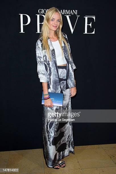 Virginie CourtinClarins attends the Giorgio Armani Prive HauteCouture show as part of Paris Fashion Week Fall / Winter 2012/13 at Palais de Chaillot...