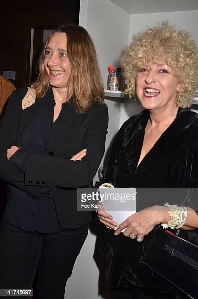 Virginie Despentes and Elisabeth Reynaud attend the 'Prix Bel Ami 2012' Women Literary Awards at the Hotel Bel Ami on March 22 2012 in Paris France